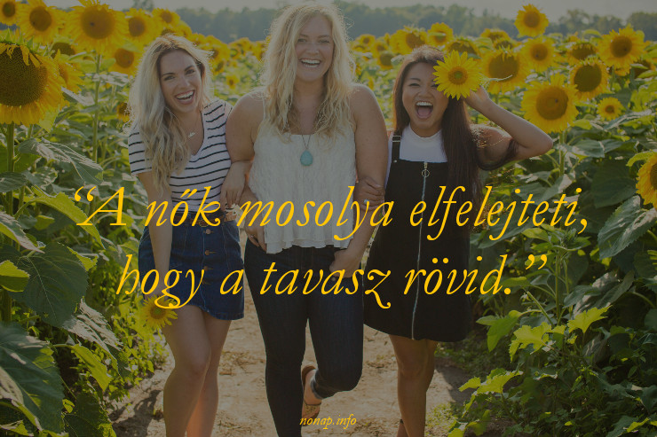 nőnapi idézet, nők mosolya